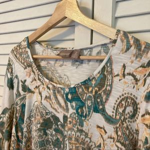 CHICO'S Paisley Top, size 2